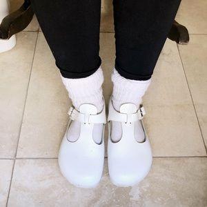 White Birkenstock Paris Clog - very hard to find